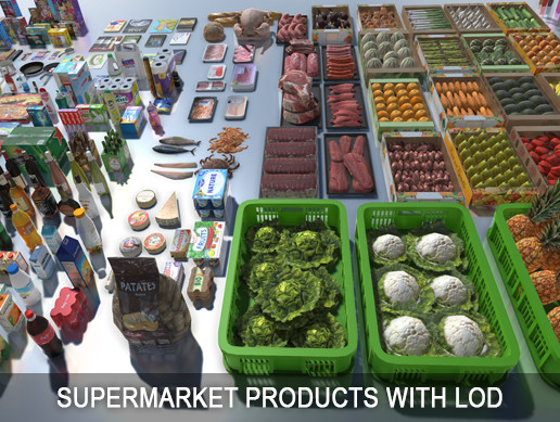 Supermarket Products with LOD
