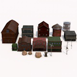 Realistic PBR textures Wild West Building Pack with Prop