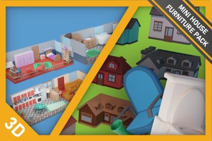 Mini House and Furniture Pack