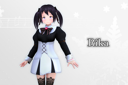 Rika 3D: Anime Style Character (Game-Ready/VRChat)