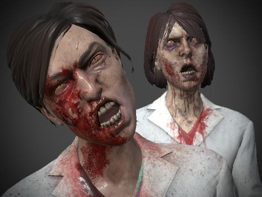 Female Scientist Zombies
