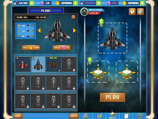 SpaceShip Game Graphics CxS (GUI Skin 2)