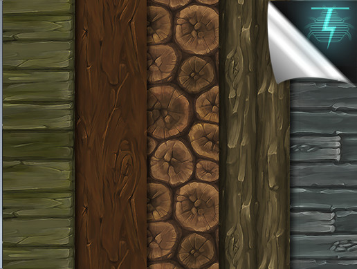 Hand Painted Wood Textures - Vol. 02