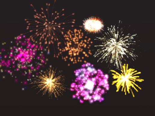 Firework Burst Particles Spark Magic Effects