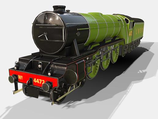 Animated Steam Train