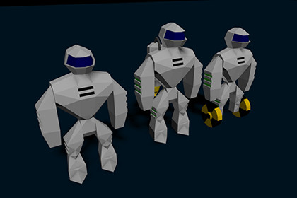 Robot JR-1 (animated) + mod1 & mod2