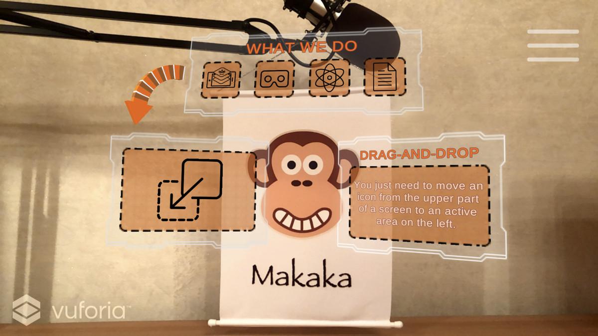 ar business card vuforia augmented reality — ar gallery
