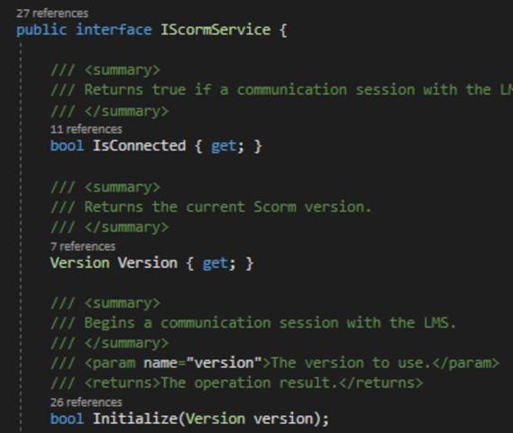 Scorm API - Asset Store