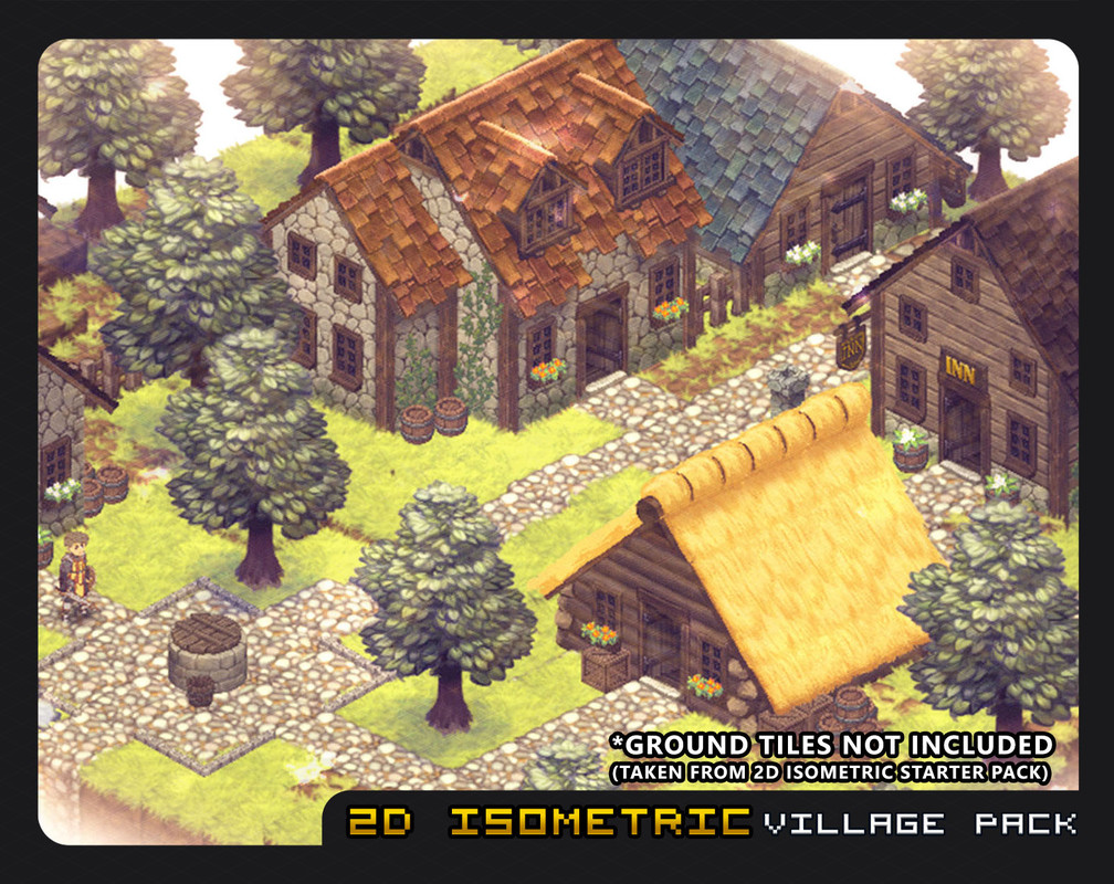 2D Isometric Village Pack - Asset Store