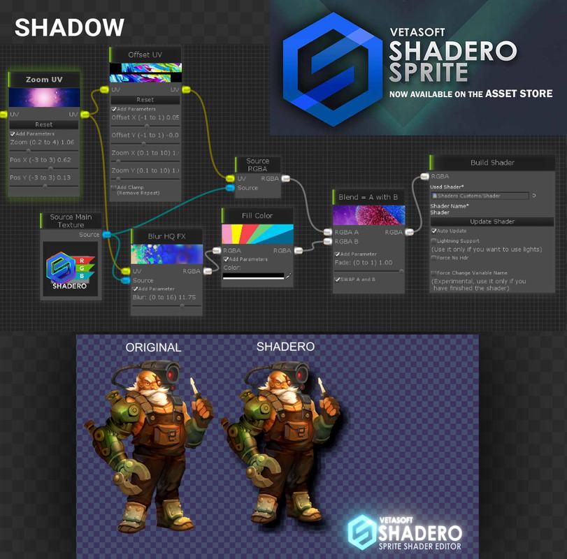 Shadero Sprite - 2D Shader Editor - Asset Store