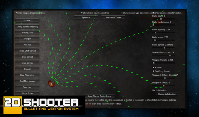 2D Shooter Bullet and Weapon System - Asset Store