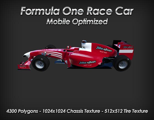 Formula One Race Car - Mobile Optimized - Asset Store