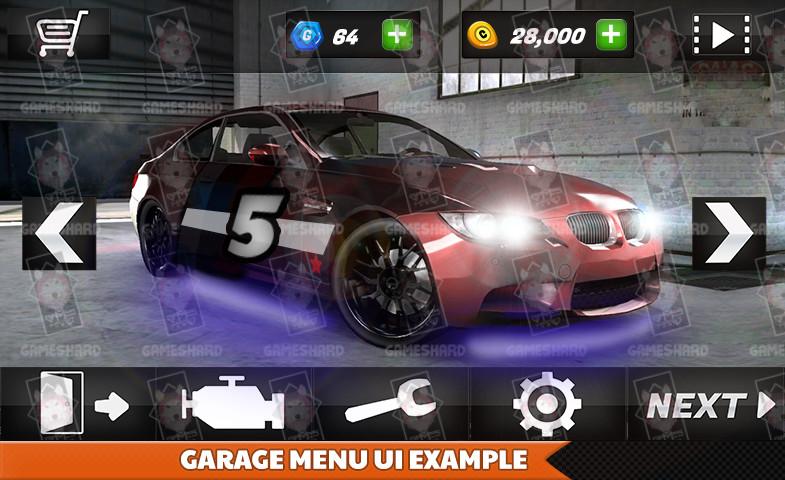 Car Racing & Parking Ultra UI Kit - Asset Store