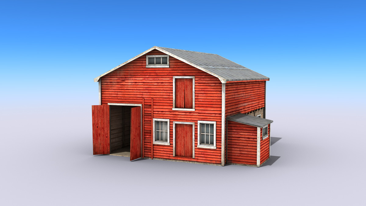Big Wooden Red Warehouse