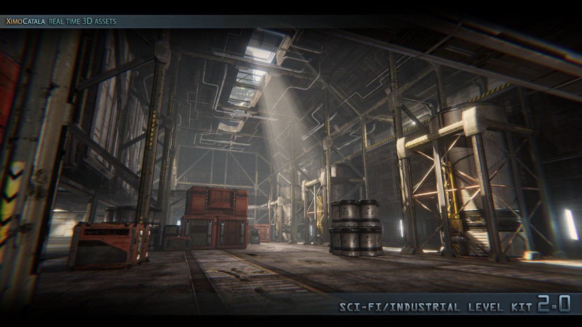 SciFi Industrial Level Kit 2 0  - Asset Store
