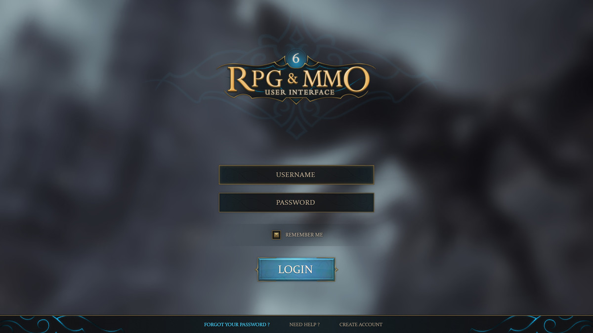 RPG & MMO UI 6 - Asset Store