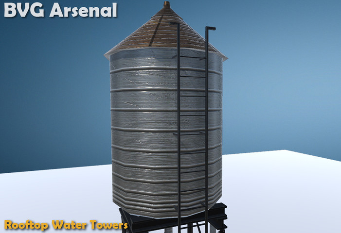 Rooftop Water Tower - Asset Store