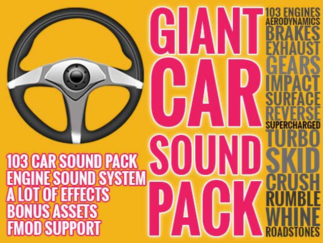 Car Engine Sound FX Pack (103 Vehicles) + SFX Pack + Professional