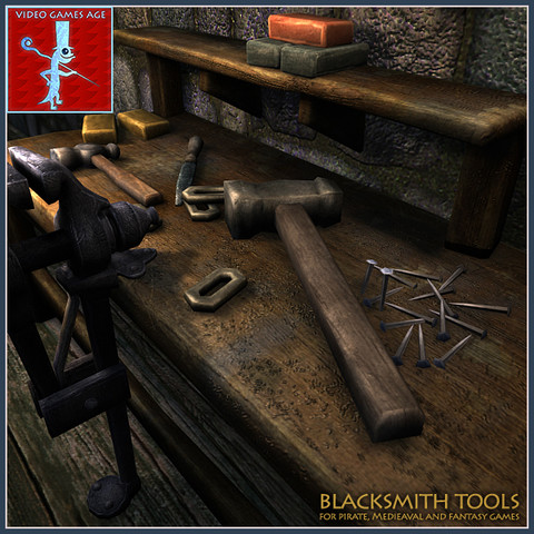 Medieval Blacksmith Tools - Asset Store