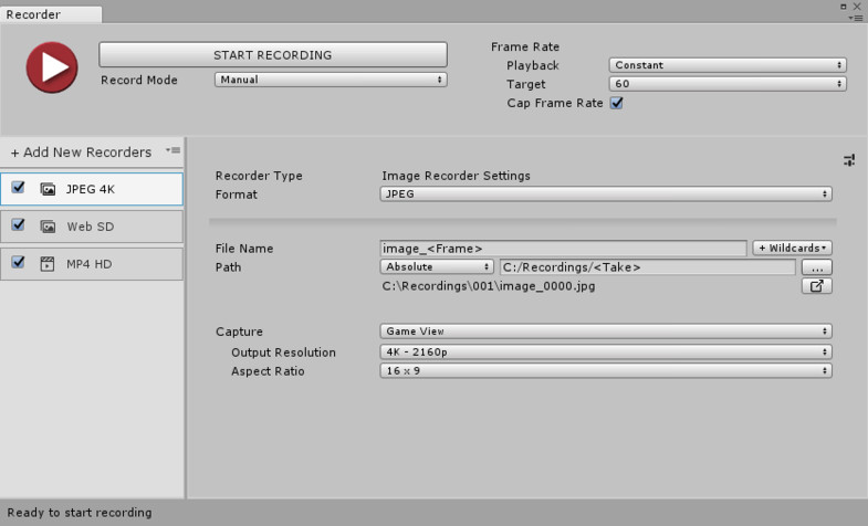 Unity Recorder - Asset Store