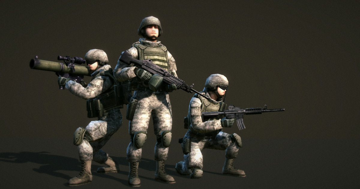 Low Poly Soldiers Demo - Asset Store