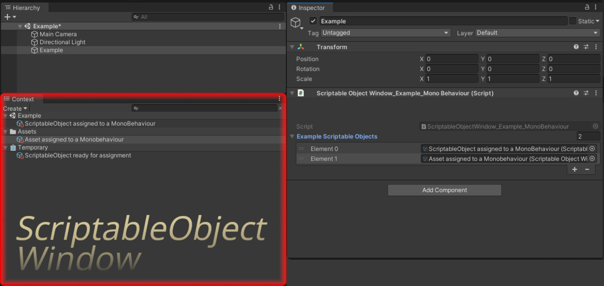 ScriptableObject Window