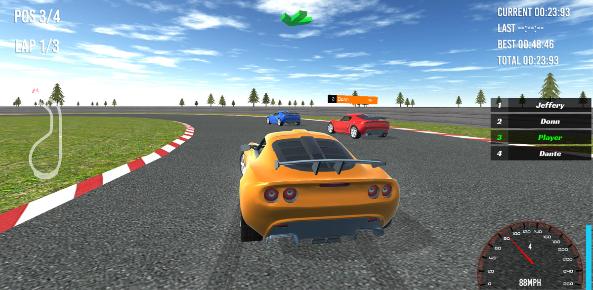 unity 3d racing game
