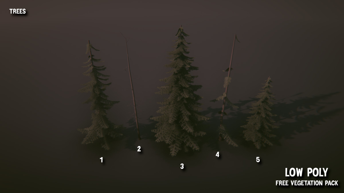 Low Poly Free Vegetation Pack