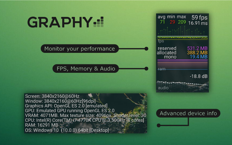 Graphy] - Ultimate FPS Counter - Stats Monitor & Debugger