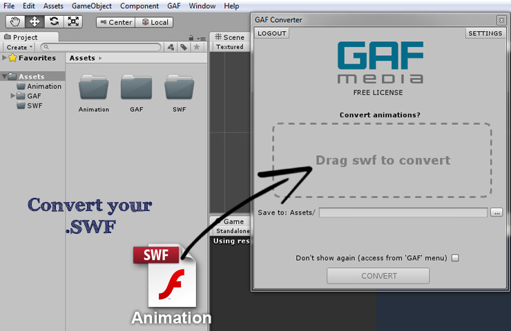 GAF Free: Flash to Unity - Asset Store