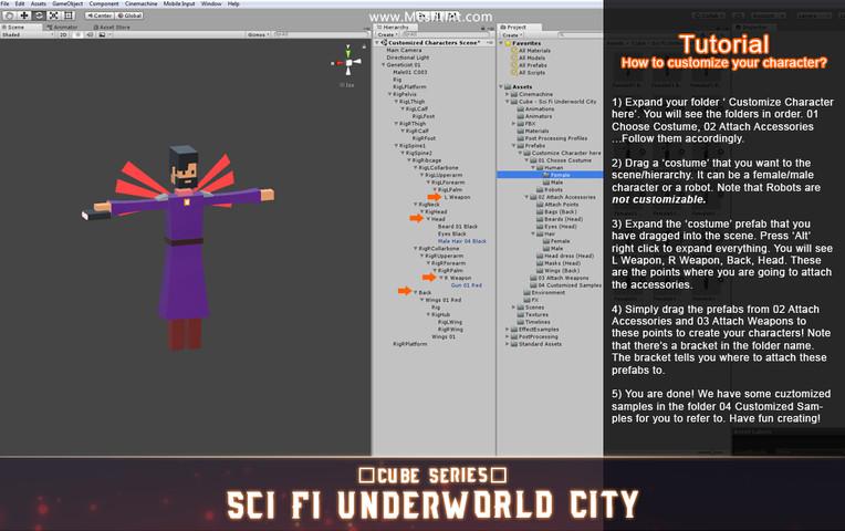 CUBE - Sci Fi Underworld City Pack - Asset Store