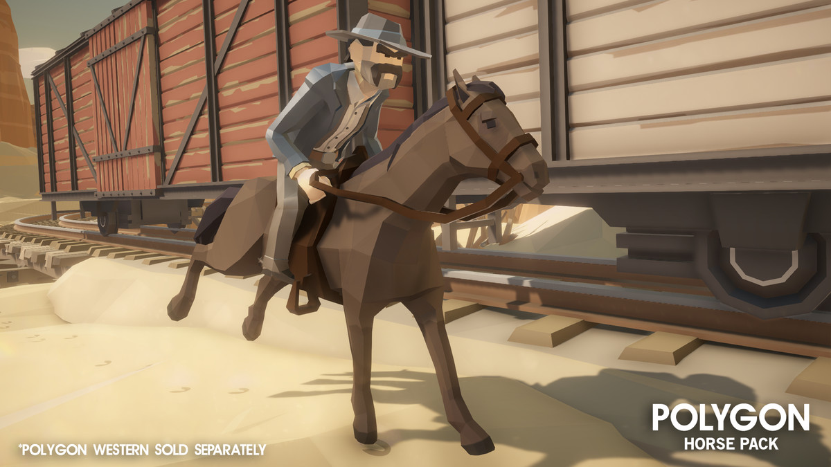 POLYGON - Horse Pack - Asset Store