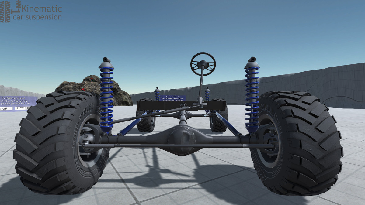 Kinematic Car Suspension - Offroad Car - Asset Store
