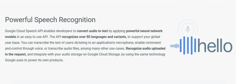 Google Cloud Speech Recognition [VR\AR\Desktop\Desktop