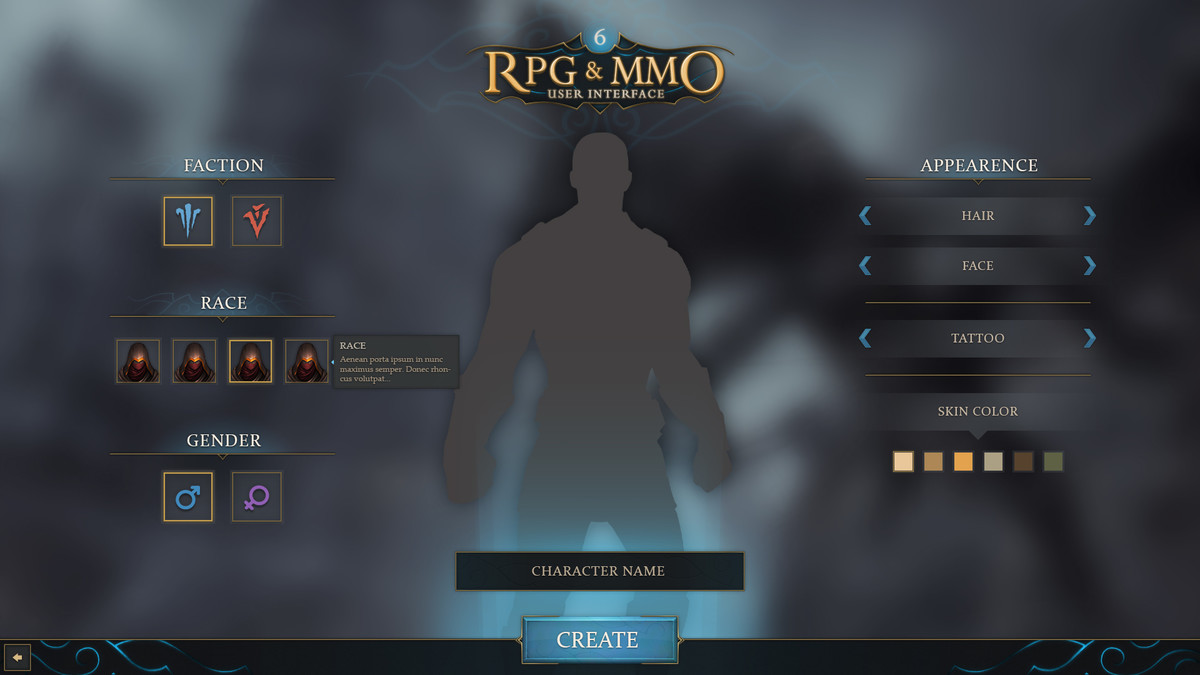 RPG & MMO UI 6 - Asset Store