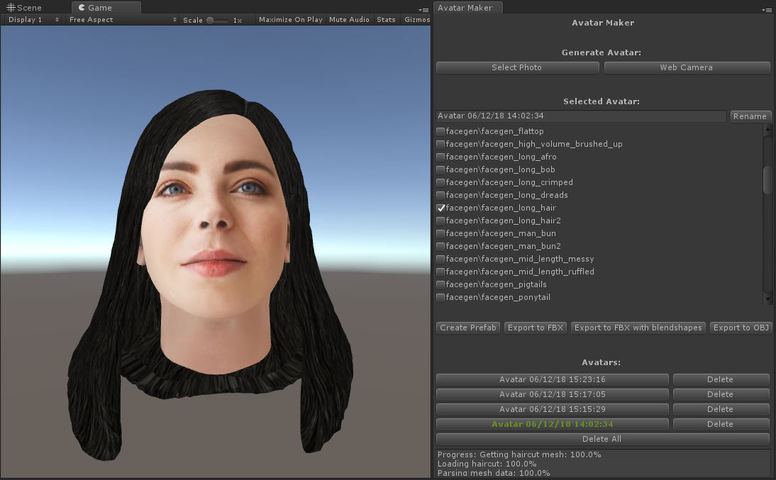 RELEASED] Avatar Maker - 3D avatar from a single selfie - Unity Forum