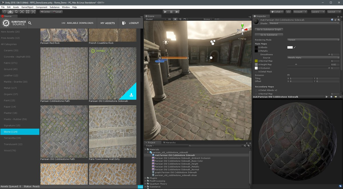 Substance in Unity - Asset Store