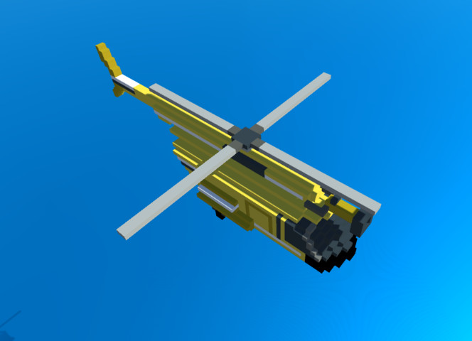 Simple Voxel Helicopters Pack
