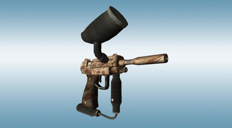 Paintball Gun Pistol - Asset Store