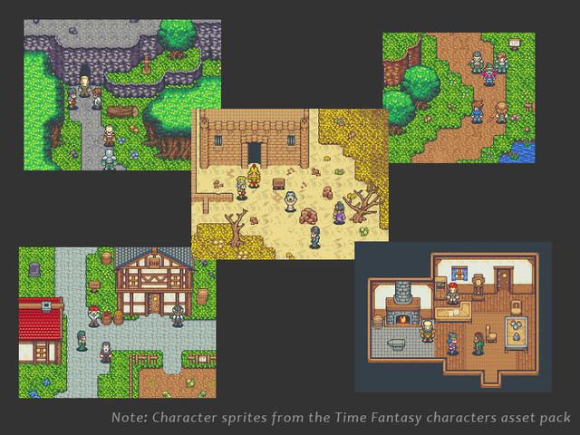 Fantasy RPG Tileset Pack - Asset Store