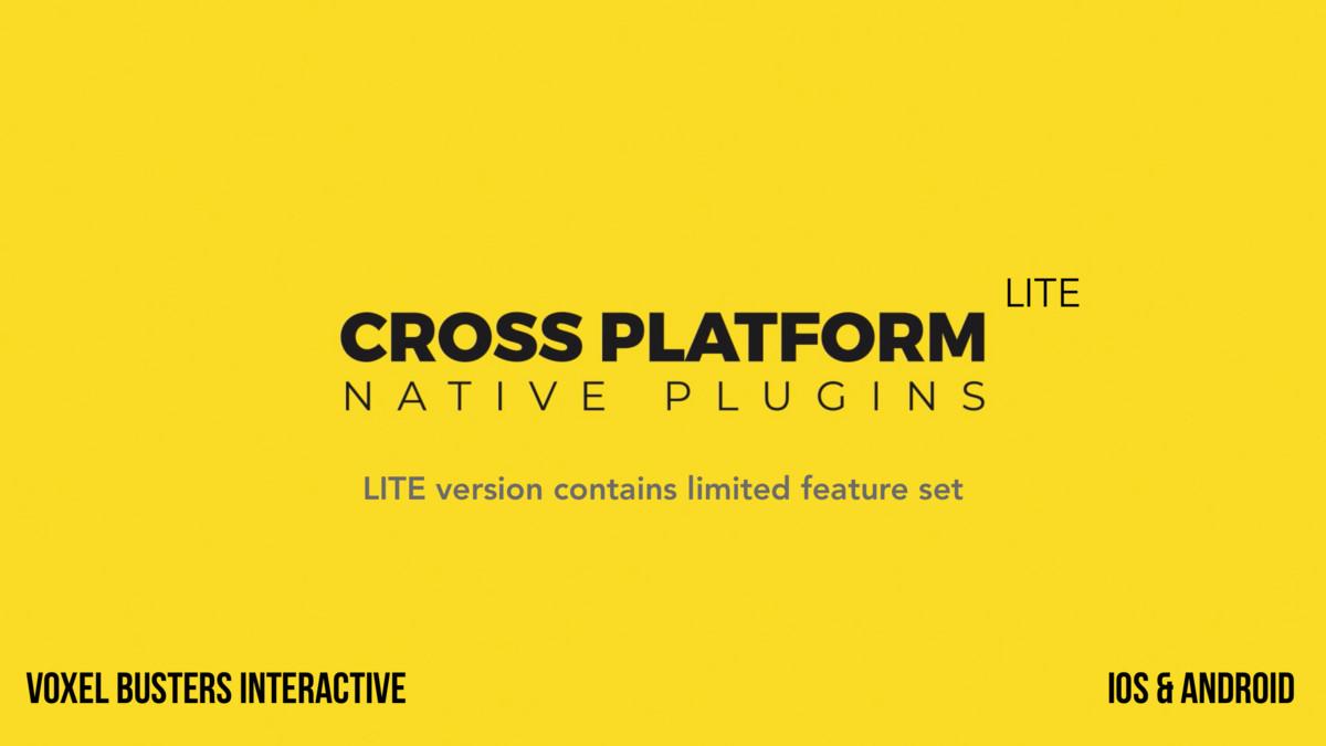 Cross Platform Native Plugins - Lite Version - Asset Store