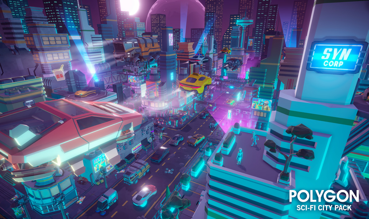 3d environments sci fi asset store