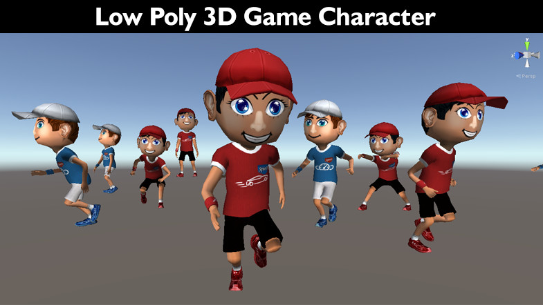 Low poly 3D game character 1 - Asset Store