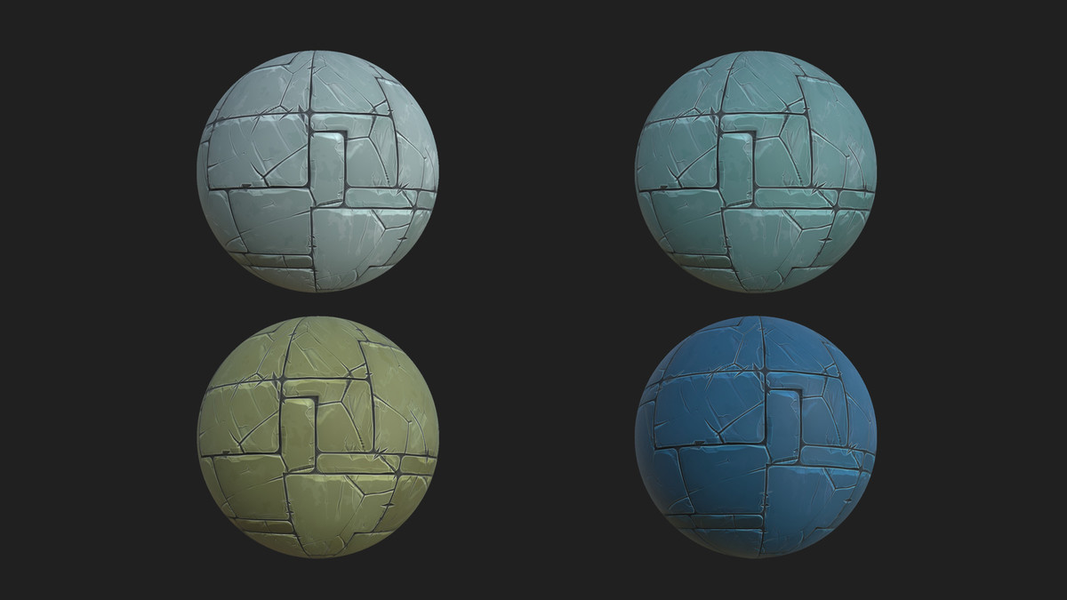 Stylized Terrain materials Pack