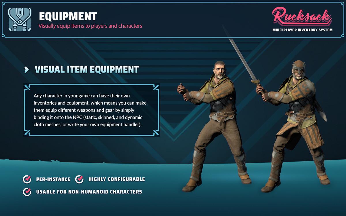 rucksack multiplayer inventory system asset store