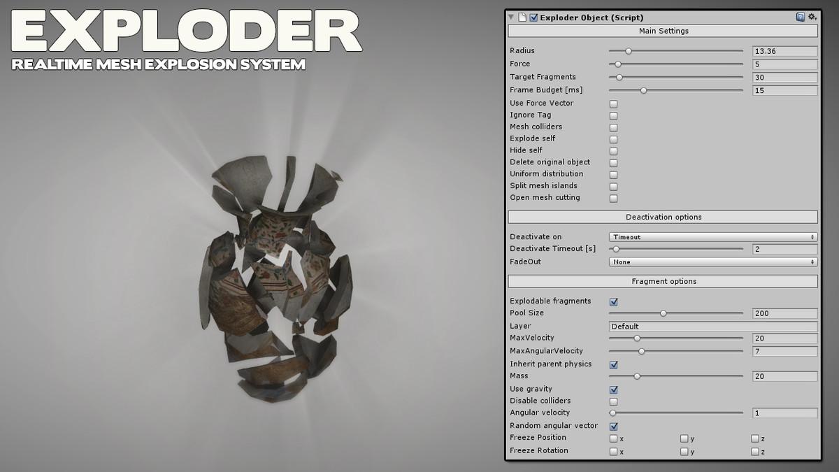 c514d55f e6c7 4077 84a1 93b0be40067a scaled - Exploder v1.7.8 - Unity终极实时网状爆炸系统