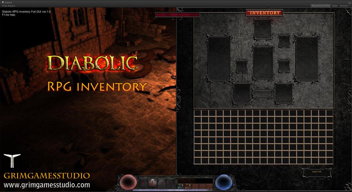 Diabolic RPG Inventory - Asset Store