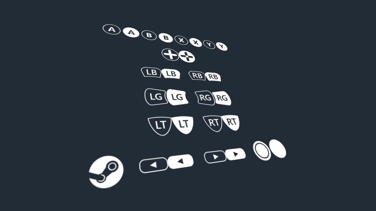 PC & Consoles Controller Buttons Icons Pack • 2D/GUI/Icons • ModelAssets