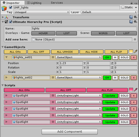 Ultimate Hierarchy Pro - Manage your GameObjects and Components