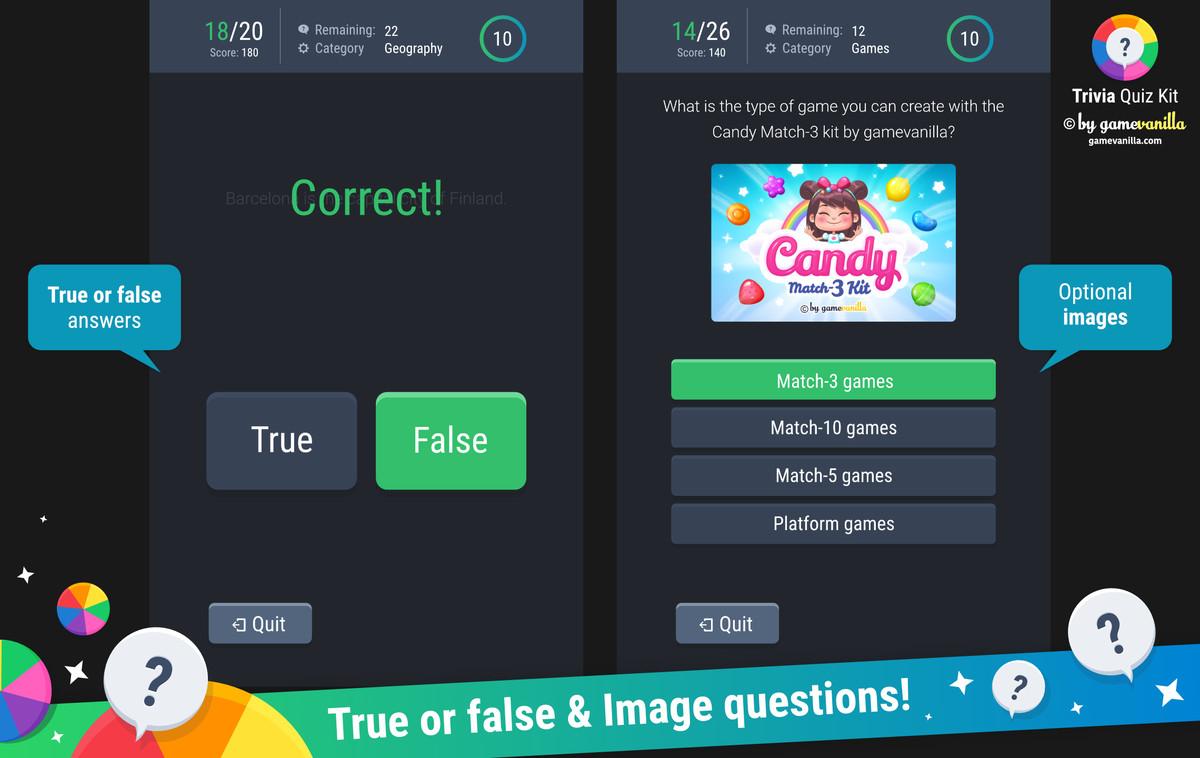 Trivia Quiz Kit - Asset Store